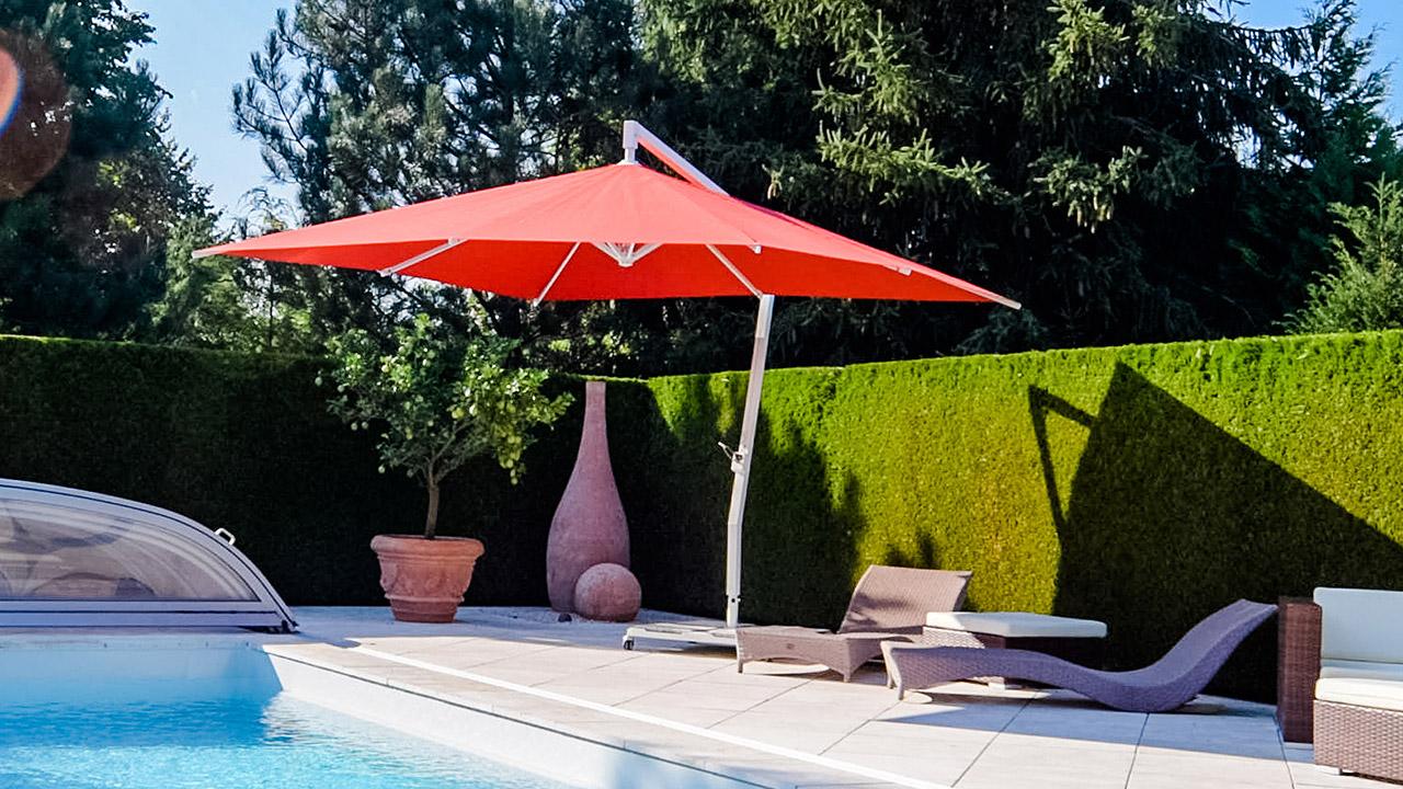 Huber Mein Lebensgefühl Sonnenschirm für Garten Terrasse Balkon