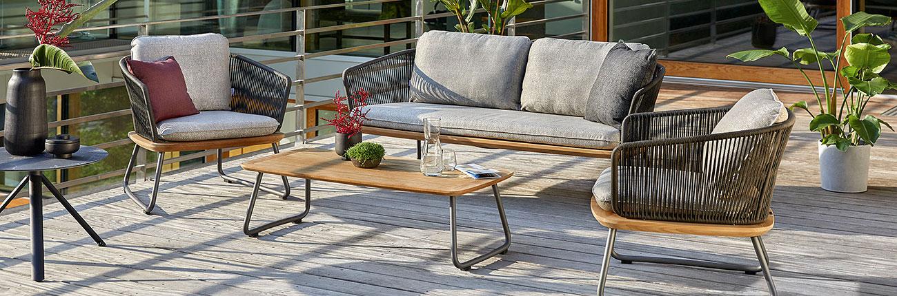 Huber Mein Lebensgefühl Garten Terrasse Balkon Möbel Weishäupl Denia Sitzgruppe