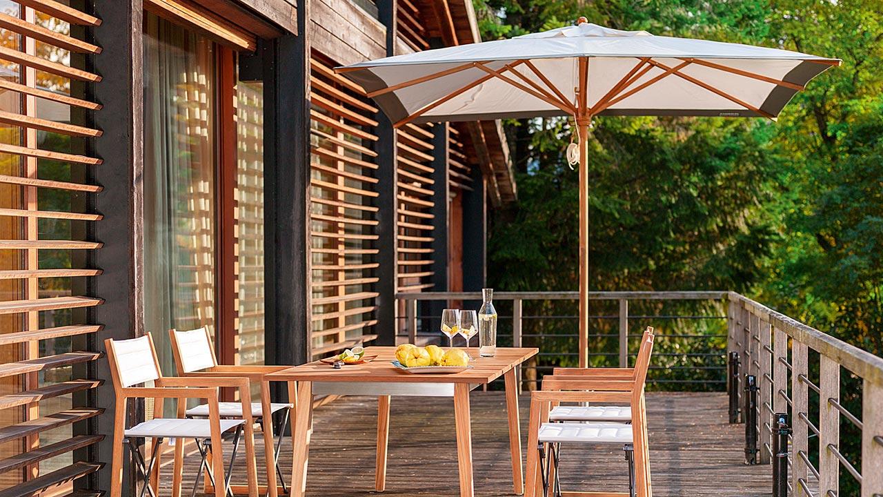 Huber Mein Lebensgefühl Garten Terrasse Balkon Eckige Schirme
