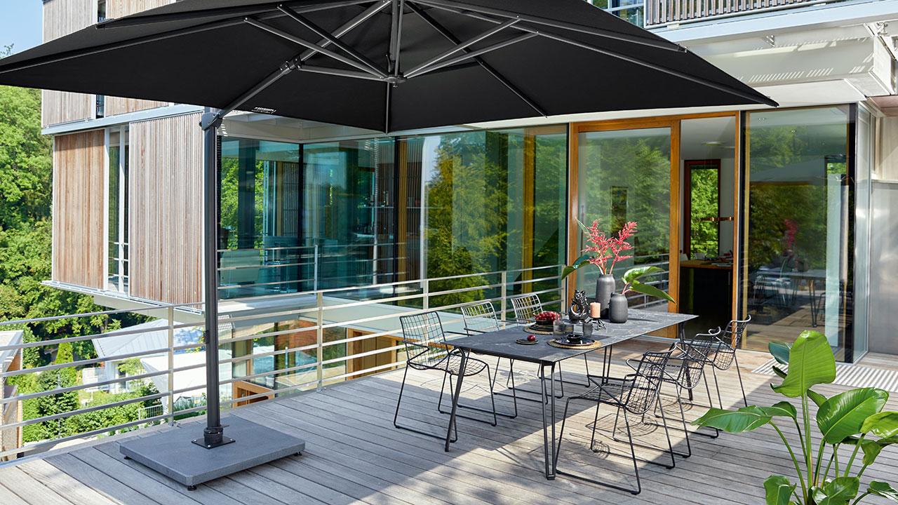 Huber Mein Lebensgefühl Schirmständer für Garten Terrasse Balkon